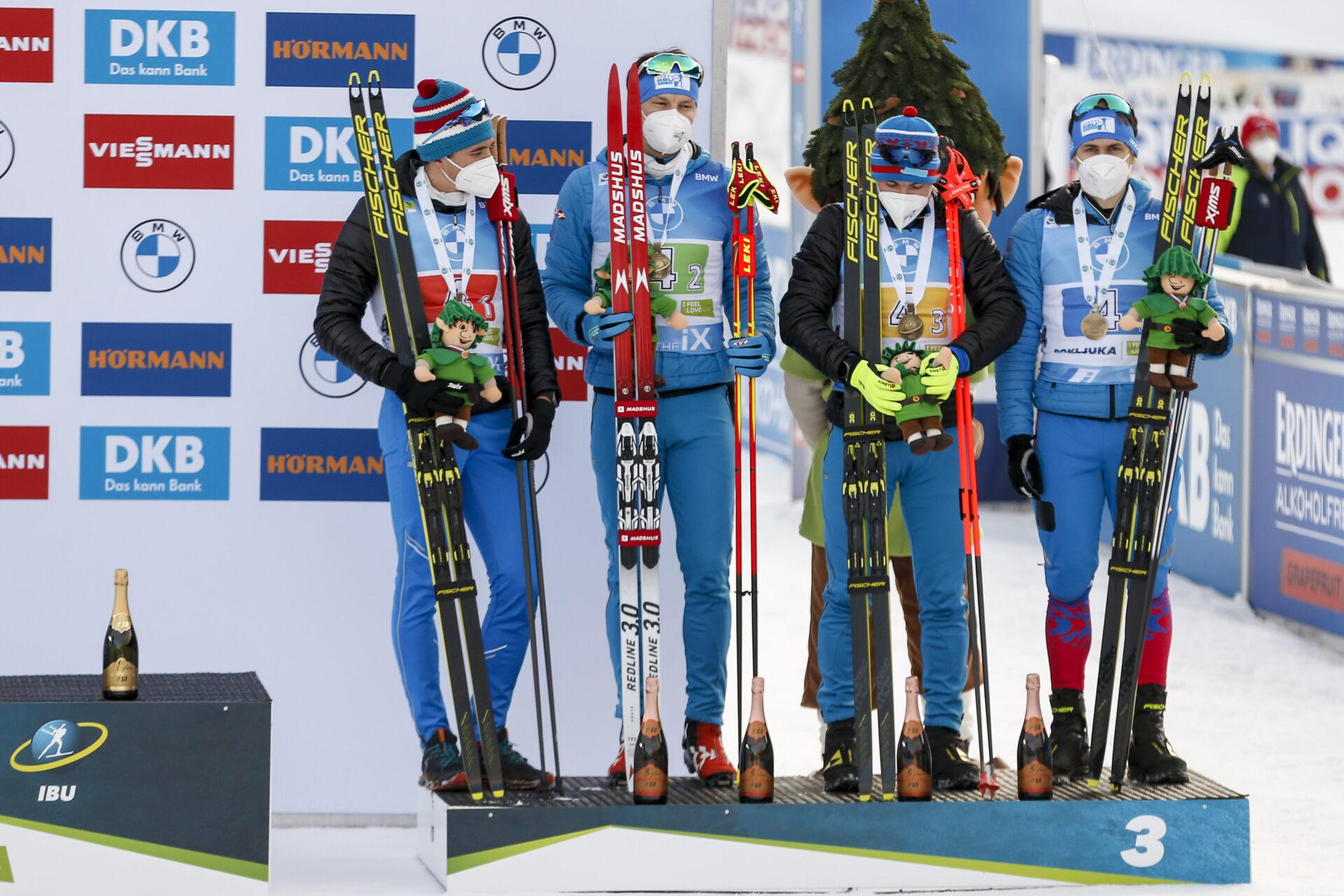 Биатлон Россия бронза